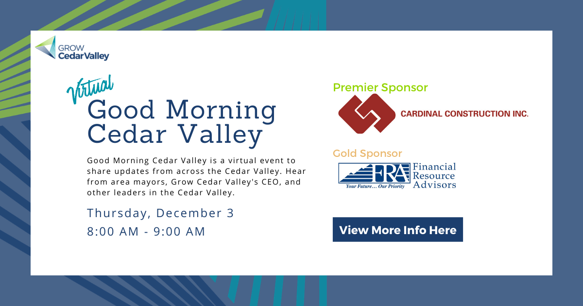 Good Morning Cedar Valley Set Date for December 3, 2020