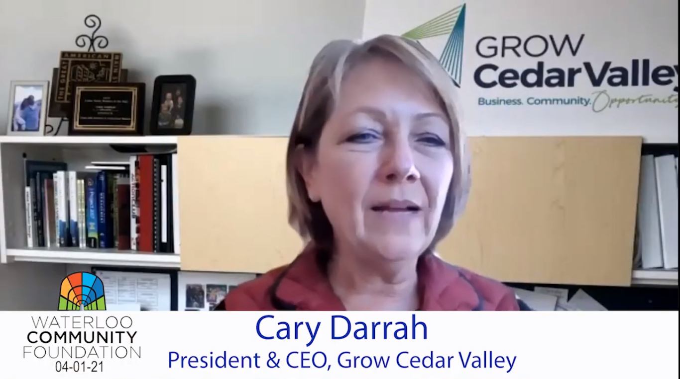 Grow Cedar Valley Presents to Waterloo Community Foundation